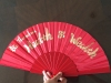 English Calligraphy on Fan