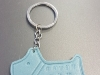 Customized Leather Keychain Message