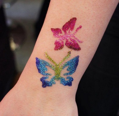 Glitter tattoo decal tattoo arts carts for Where to get glitter tattoos
